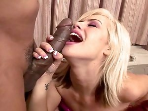 super horny babes suck and gag on a huge black cock
