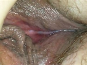 Very Wet MILF Pussy Up Close