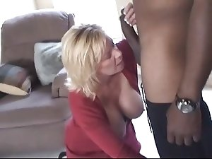 Hot Older Curvy Blonde Cougar Squirts on BBC