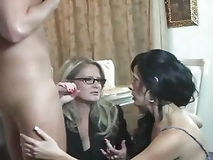 Hot Mommy-Friend-Son Threesome