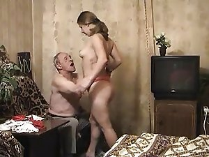 Nasty dad fucks nude daughter - home family sex video