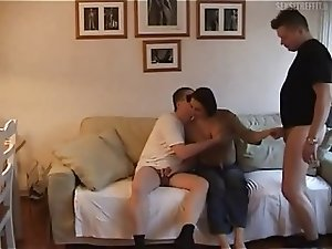 Amateur wife fucks her two work buddies